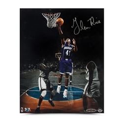 "Glen Rice Signed Hornets ""Layup in the Garden"" 8x10 Photo (UDA COA)"
