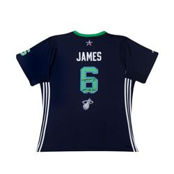 "LeBron James Signed 2014 All Star Swingman Jersey Inscribed ""2014 All Star"" LE 14 (UDA COA)"