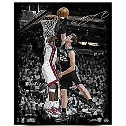 "LeBron James Signed Heat ""2013 NBA Finals"" LE 16x20 Photo (UDA COA)"