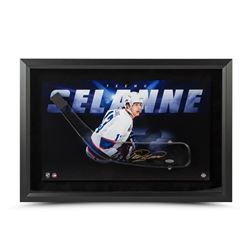 Teemu Selanne Signed Jets 17x25 Acrylic Stick Blade with Shadow Watcher Photo Framed Shadow Box Disp