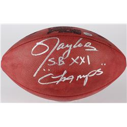 "Lawrence Taylor Signed Super Bowl XXI NFL Football Inscribed ""S.B. XXI Champs"" (Radtke COA)"