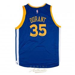 """Kevin Durant Signed LE Warriors Authentic Swingman Jersey Inscribed """"GSW"""" (Panini COA)"""