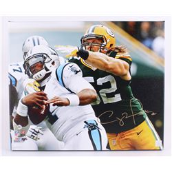 """Clay Matthews Signed Packers 20""""x24"""" Photo on Canvas (Matthews Hologram)"""