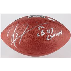 """Ray Lewis Signed Official Super Bowl XLVII Game Ball Inscribed """"SB 47 Champs"""" (Radtke Hologram)"""