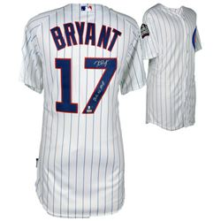 """Kris Bryant Signed Cubs Majestic Authentic 2016 World Series On-Field Jersey Inscribed """"2016 NL MVP"""""""