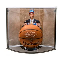 Ben Simmons Signed Official NBA Game Ball Basketball with Curve Display Case (UDA COA)