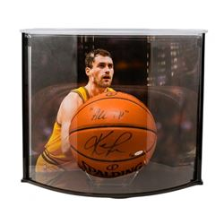 """Kevin Love Signed LE NBA Game Ball Series Basketball Inscribed """"All In"""" with Curve Display Case (UDA"""