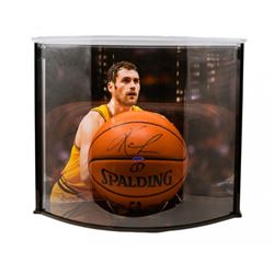 Kevin Love Signed NBA Game Ball Series Basketball with Curve Display Case (UDA COA)