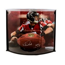 """Matt Ryan Signed Official NFL Game Ball Inscribed """"2016 NFL MVP"""" with Curve Display Case (Fanatics)"""