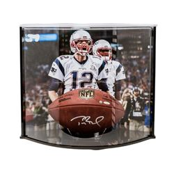 """Tom Brady Signed """"The Duke"""" NFL Official Game Ball with Curve Display Case (TriStar)"""