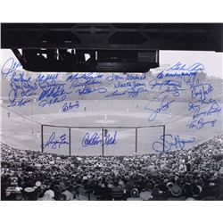 Boston Red Sox 16x20 Photo Signed by (29) with Carlton Fisk, Dwight Evans, Jim Lonborg, Carney Lansf