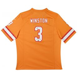 """Jameis Winston Signed LE Buccaneers Throwback Nike Jersey Inscribed """"2015 1st Overall Pick"""" (UDA COA"""