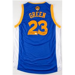 """Draymond Green Signed LE Warriors Jersey Inscribed """"I Want to Destroy Cleveland"""" (JSA COA)"""