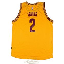 """Kyrie Irving Signed Cavaliers Jersey Inscribed """"15-16 NBA Champ"""" (Panini COA)"""