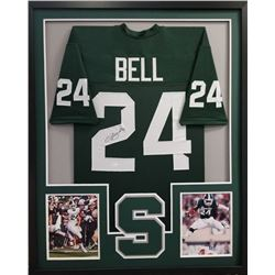 Le'Veon Bell Signed Michigan State Spartans 34x42 Custom Framed Jersey (JSA COA)