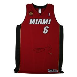 LeBron James Signed Heat Limited Edition Jersey with Back-to-Back Finals MVP Patch (UDA COA)
