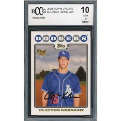 2008 Topps Update #UH240 Clayton Kershaw RC (BCCG 10)