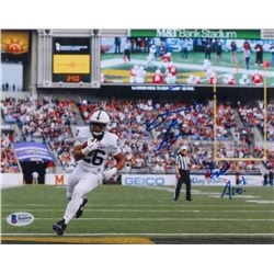 """Saquon Barkley Signed Penn State Nittany Lions 8x10 Photo Inscribed """"We Are!"""" (Beckett COA)"""