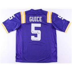 Derrius Guice Signed LSU Tigers Jersey Inscribed  Geaux Tigers (JSA COA)