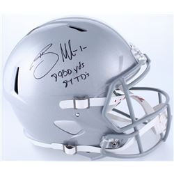 "Braxton Miller Signed Ohio State Buckeyes Full-Size Speed Helmet Inscribed ""8950 Yds""  ""87 TD's"" (Ra"