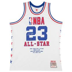 Michael Jordan Signed LE 1985 NBA All Star Authentic Mitchell  Ness Game Highlight Stat Jersey (UDA