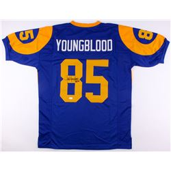 "Jack Youngblood Signed Rams Jersey Inscribed ""HF 01"" (JSA COA)"