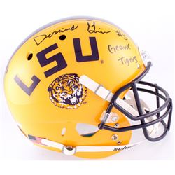 """Derrius Guice Signed LSU Tigers Full-Sized Helmet Inscribed """"Geaux Tigers"""" (JSA COA)"""
