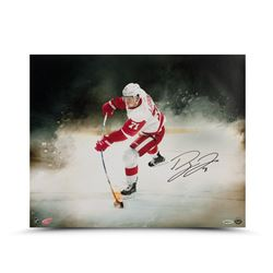 """Dylan Larkin Signed Red Wings """"Point of Contact"""" 16x20 Photo (UDA COA)"""