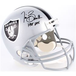 "Tim Brown Signed Raiders Full-Size Helmet Inscribed ""HOF 2015"" (Radtke COA)"