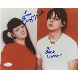 "Jack White  Meg White Signed  8x10 Photo Inscribed ""Love"" (JSA LOA)"