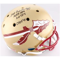 "Fred Biletnikoff Signed Florida State Seminoles Full-Size Helmet Inscribed ""1655 YDS"", ""20 TD's"",  """