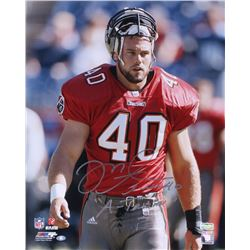 "Mike Alstott Signed Buccaneers 16x20 Photo Inscribed ""A-Train"" (Radtke COA)"