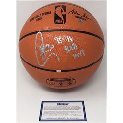 "Stephen Curry Signed NBA Game Ball Series Basketball Inscribed ""'15-'16 B2B MVP"" (Steiner COA)"