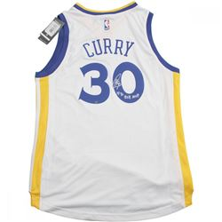 "Stephen Curry Signed Warriors Jersey Inscribed ""15-16 B2B MVP"" (Steiner Hologram)"