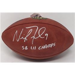 """Nick Foles Signed """"The Duke"""" Super Bowl LII Official NFL Game Ball Inscribed """"SB LII Champs"""" (Fanati"""