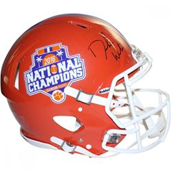 Deshaun Watson Signed Clemson Tigers 2016 National Champions Full-Size Authentic On-Field Speed Helm