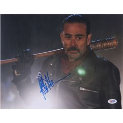 "Jeffrey Dean Morgan Signed ""The Walking Dead"" 11x14 Photo (PSA COA)"