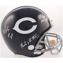 """Monsters of the Midway"" Bears Full-Size Authentic On-Field Throwback Helmet Signed by (3) with Mike"