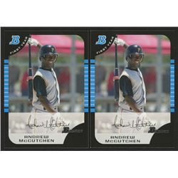 Lot of (2) 2005 Bowman Chrome Draft #63 Andrew McCutchen FY RC