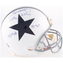 Tony Dorsett Signed Cowboys Full-Size Authentic On-Field Helmet with Inscriptions (JSA COA)