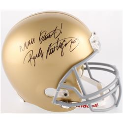 "Rudy Ruettiger Signed Notre Dame Fighting Irish Full Size Helmet Inscribed ""Never Quit!"" (JSA COA)"