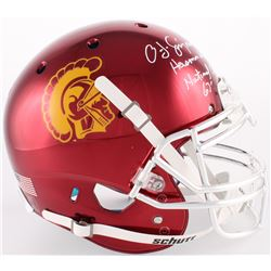 "O. J. Simpson Signed USC Trojans Full-Size Authentic On-Field Helmet Inscribed ""Heisman 68""  ""Nation"