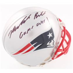 "Malcolm Butler Signed Patriots Mini-Helmet Inscribed ""Game Over!"" (Radtke Hologram  Fanatics Hologra"