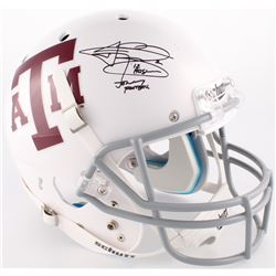 "Johnny Manziel Signed Texas AM Full-Size Helmet Inscribed ""'12 Heisman""  ""Johnny Football"" (JSA COA)"