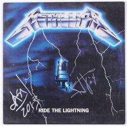 "James Hetfield  Jason Newsted Signed Metallica ""Ride the Lightning"" Vinyl Record Album Inscribed ""'0"
