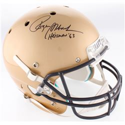 "Roger Staubach Signed Navy Midshipmen Full-Size Helmet Inscribed ""Heisman '63"" (JSA COA)"