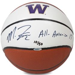 "Markelle Fultz Signed LE Washington Huskies Logo Basketball Inscribed ""All America '17"" (UDA COA)"