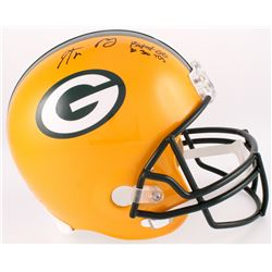 "Aaron Rodgers Signed Packers Full-Size Helmet Inscribed ""Fastest QB to 300 TD"" (Steiner Hologram)"