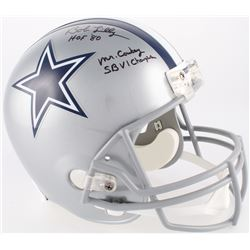 "Bob Lilly Signed Cowboys Full-Size Helmet Inscribed ""HOF 80"", ""Mr.Cowboy""  ""SBVI Champs"" (JSA COA)"