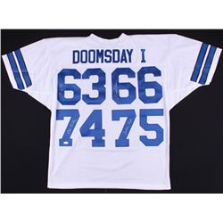 """Cowboys """"Doomsday I"""" Jersey Signed By (4) With Bob Lilly, Jethro Pugh, George Andrie (JSA COA)"""